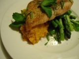Salmon with Sweet Potato & Asparagus